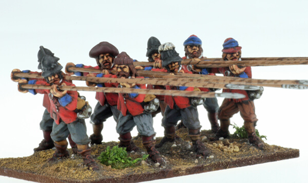 BIC-ECW002 - Unarmoured Pikemen at charge