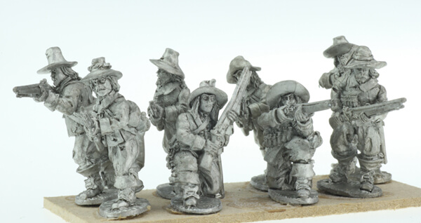 BIC-ECW032 - Dismounted Dragoons (broad brimmed hats)