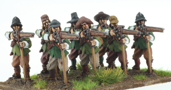 BIC-ECW046 - Musketeers with rests standing firing