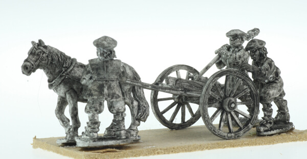BIC-ECWG010 - Frame Gun with 3 Scots crew (bonnets) & mule manouvering