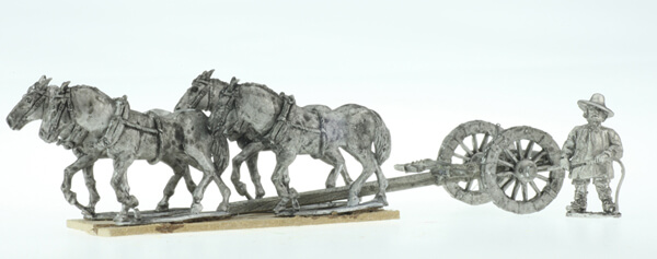 BIC-ECWG017 - Heavy Limber with 4 horses & driver on foot,